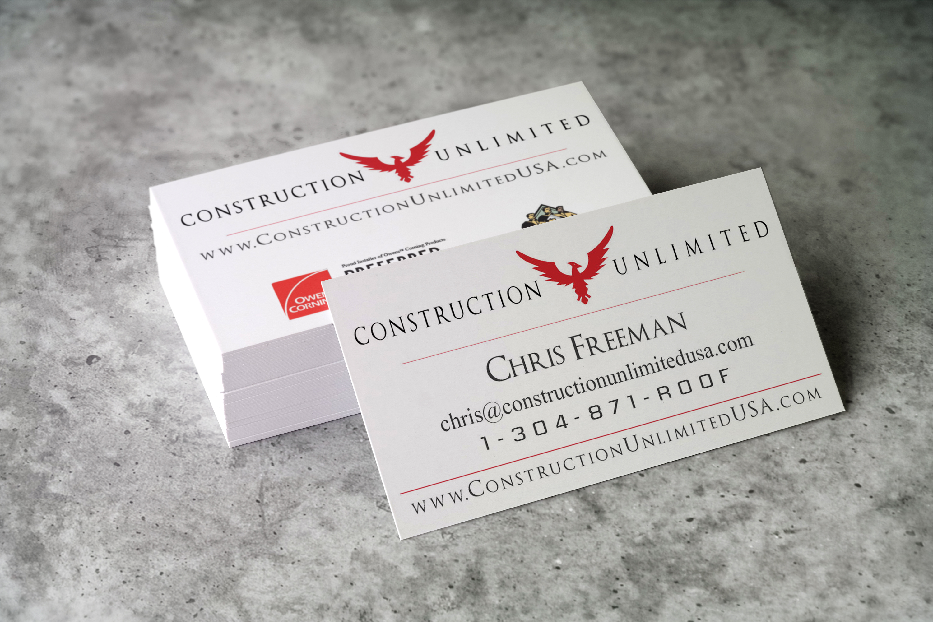 Business card design services printing graphic designs for Huntington card designs