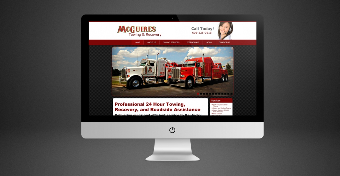 McGuires Towing & Recovery | GraFitz Group Network Website Design