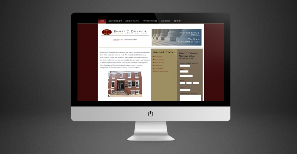 Robert C. Delawder Attorneys at Law | GraFitz Group Network Website Design
