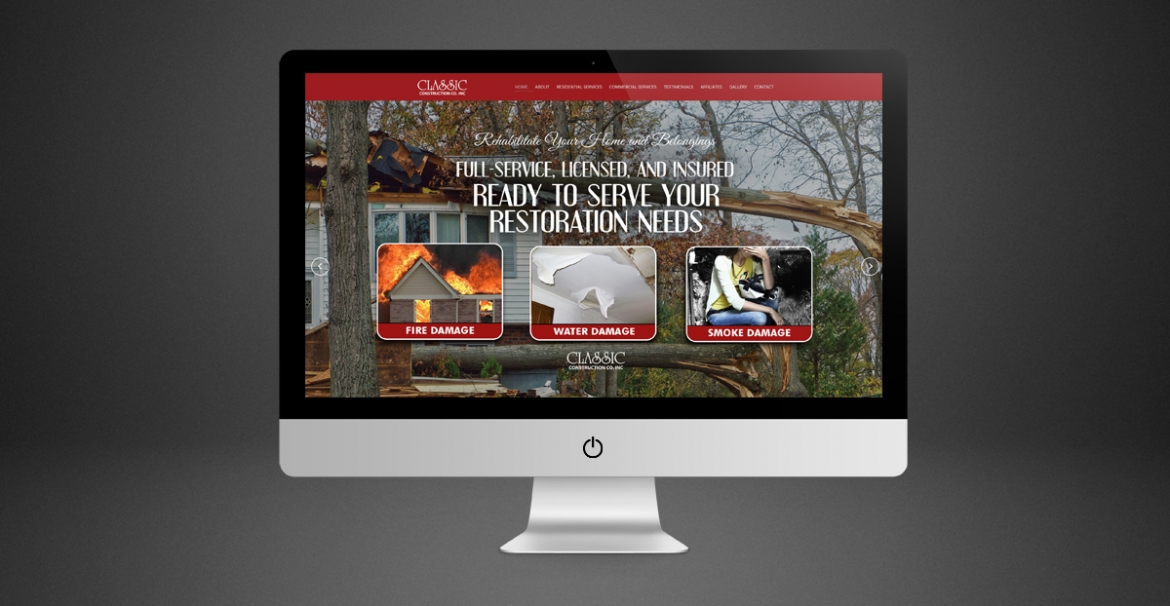 Classic Construction Company | GraFitz Group Network Website Design