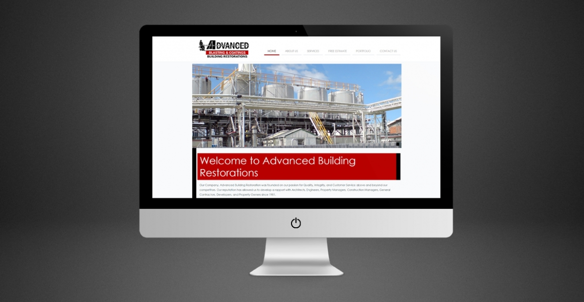 Advanced Building Restorations | GraFitz Group Network Website Design
