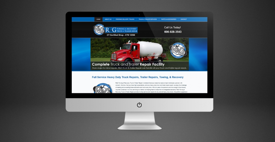 R&G Towing & Recovery Truck & Trailer Repair | GraFitz Group Network Website Design