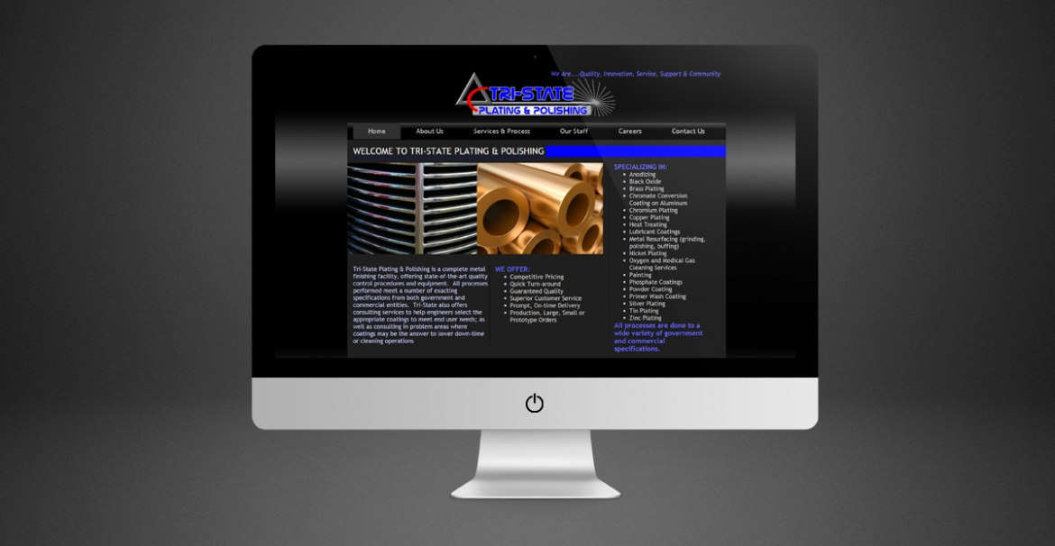Tri-State Plating & Polishing | GraFitz Group Network Website Design