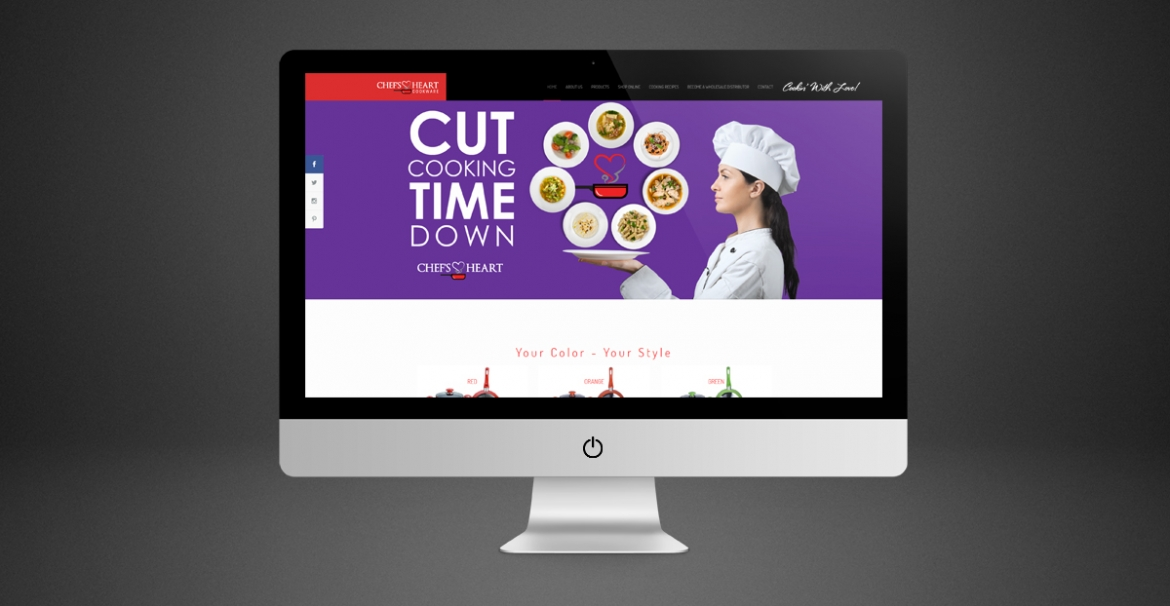 Chef's Heart Cookware | GraFitz Group Network Website Design